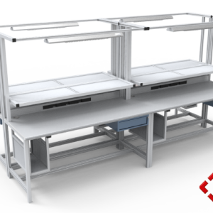 custom designed aluminium t-slot extrusion workbench pod
