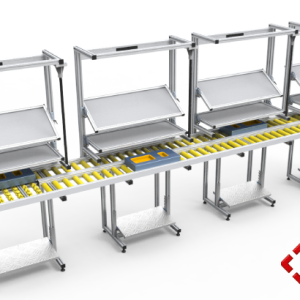 custom designed aluminium t-slot extrusion workbenches with conveyor