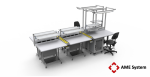 custom designed aluminium t-slot extrusion workbench setup