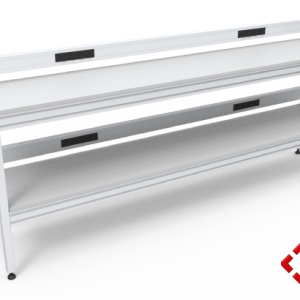 custom designed aluminium t-slot extrusion workbench with power and data