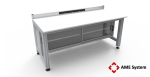 custom designed aluminium t-slot extrusion workbench with base cabinet