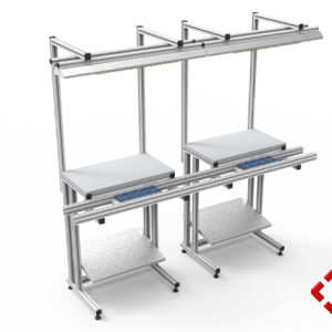 custom designed aluminium t-slot extrusion conveyor workbench pod 2