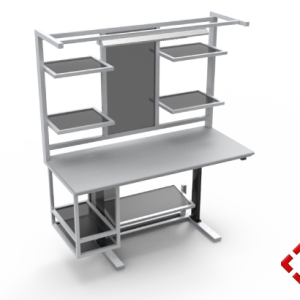 custom designed aluminium t-slot extrusion workbench