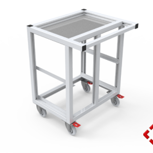 custom designed aluminium t-slot extrusion trolley