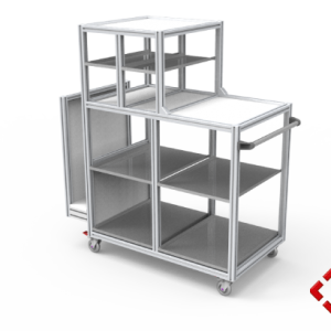 custom designed aluminium t-slot extrusion large trolley