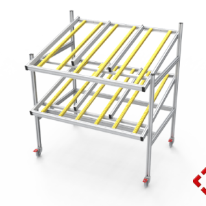 custom designed aluminium t-slot extrusion conveyor trolley