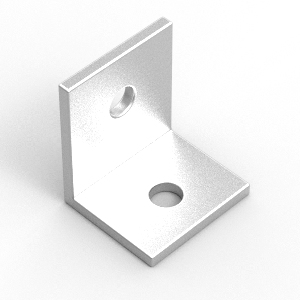 32x25x3mm aluminium angle to suit 30 and 40 series profiles
