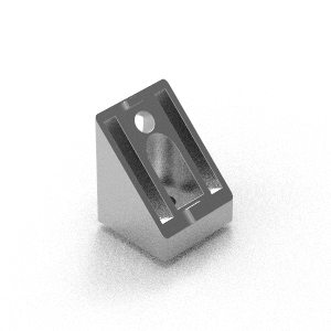 45 to 90 aluminium corner bracket to suit 40 series extrusion