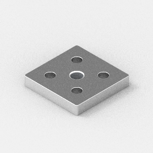 foot plate to suit 60x60 extrusion