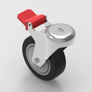 100mm bolt mount swivel castor with brake to suit 30 and 40 series aluminium