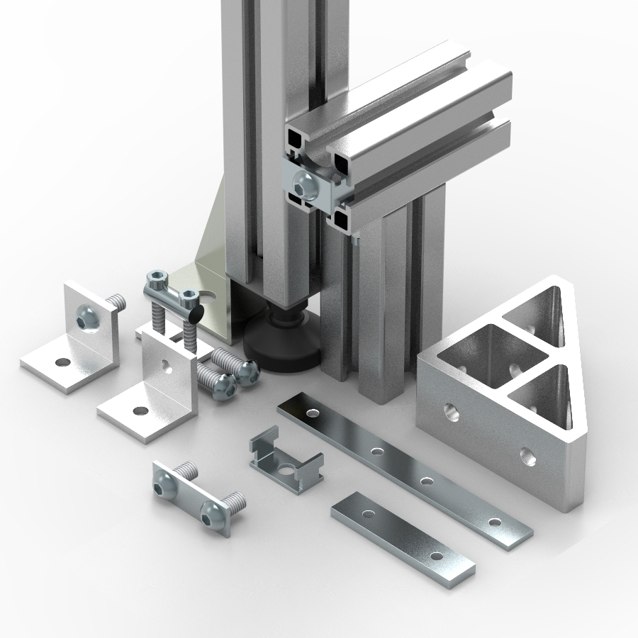 Product Aluminium Sections : Products aluminium extrusions industrial workstations