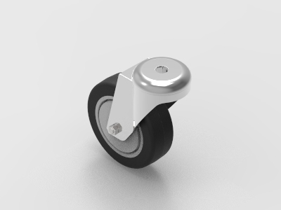 75mm bolt mount swivel castor to suit 30 and 40 series aluminium
