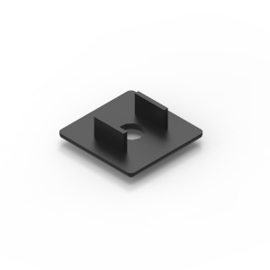 40x40 black endcap for 40 series aluminium t-slot extrusions