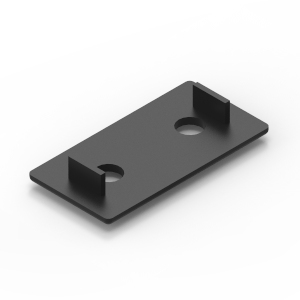40x80 black endcap for 40 series aluminium t-slot extrusions