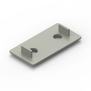 40x80 grey endcap for 40 series aluminium t-slot extrusions