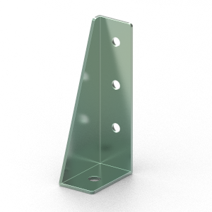 LHS Foundation Bracket for 40 series aluminium t-slot extrusions