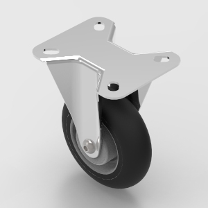 100mm fixed plate mount castor to suit 30 and 40 series aluminium