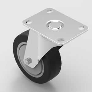 100mm plate mount swivel castor to suit 30 and 40 series aluminium