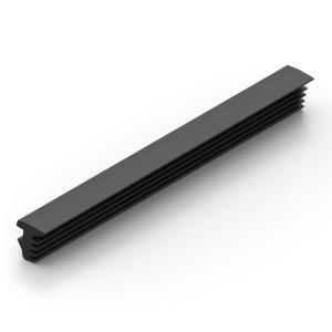 Rubber wedge to secure panels into t-slot aluminium extrusion