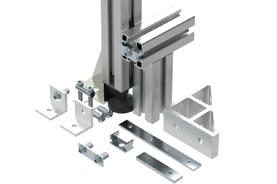 10mm t-slot profile accessories range